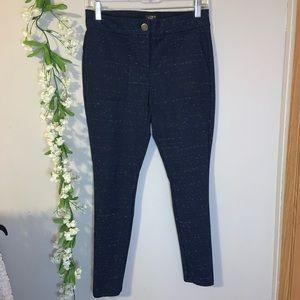 Navy blue skinny pant slacks Loft size 8P